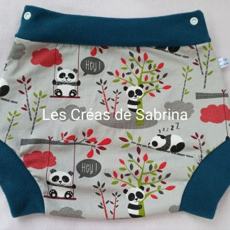 shorty imperméable panda bambou