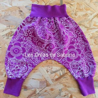 sarouel mandala violet 18m-3ans