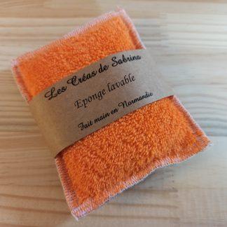 éponge lavable orange